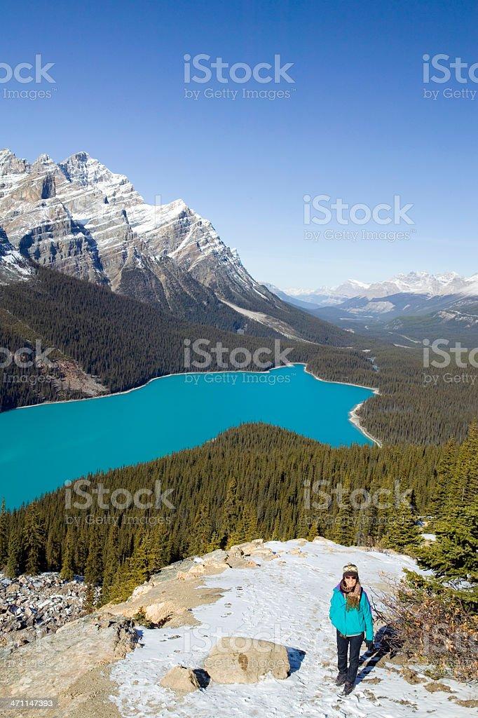 peyto lake banff national park alberta canada royalty-free stock photo