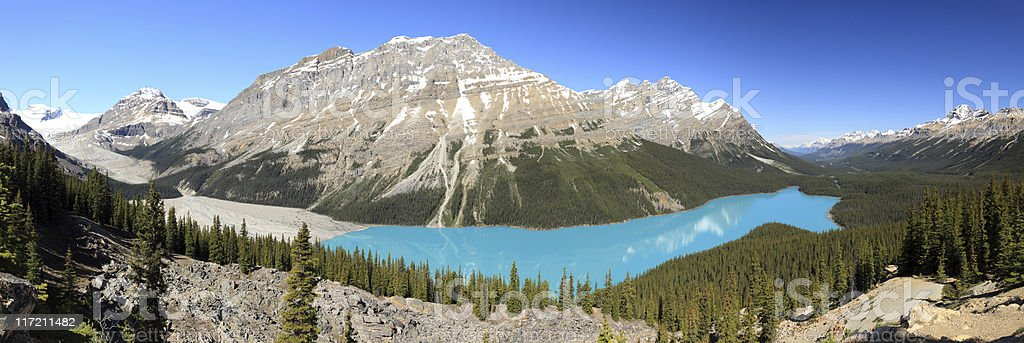 Peyto Lake, Canadian Rockies stock photo