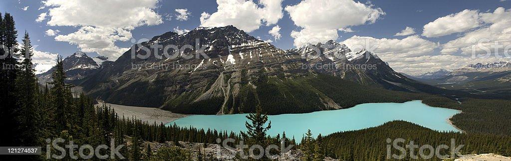 Peyto Lake, Canadian Rockies royalty-free stock photo