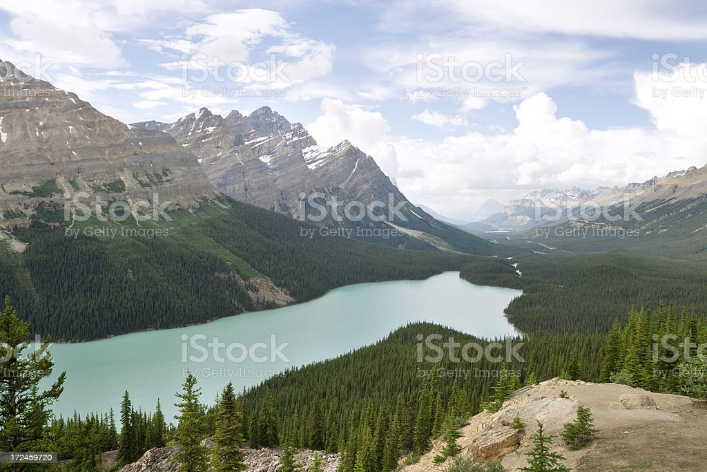 Peyto Lake in Banff National Park. stock photo