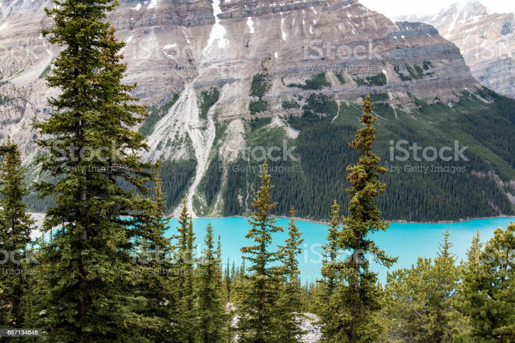 Peyto Lake, Jasper National Park, Canada stock photo