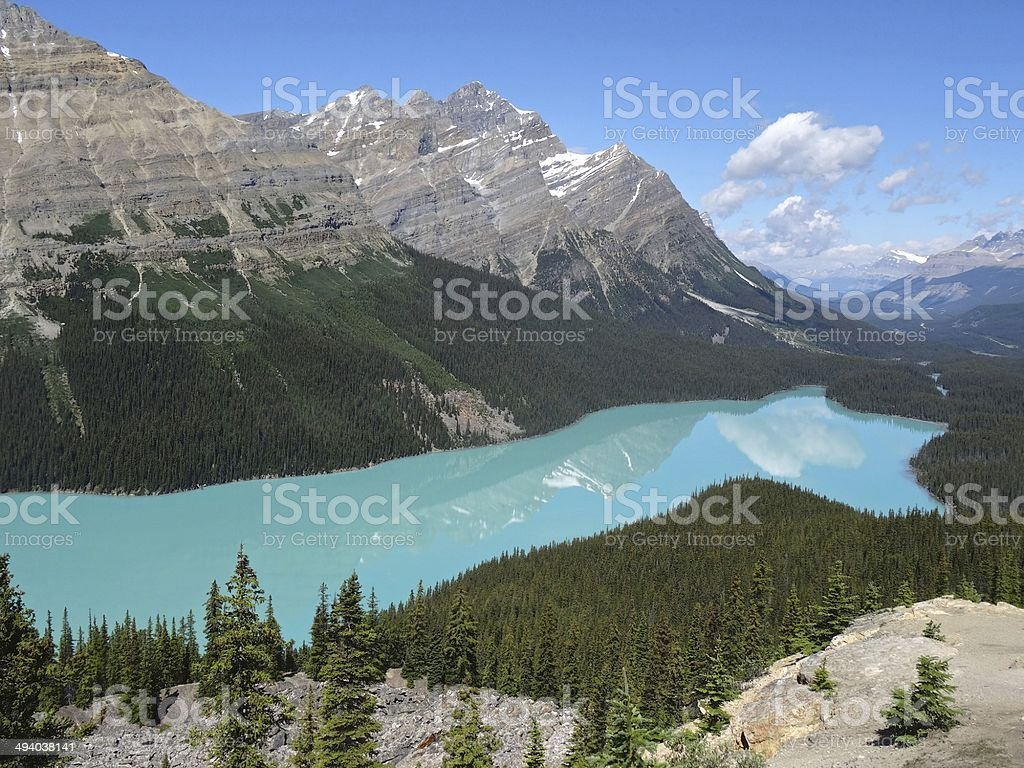 Peyto Lake, Rockies, Canada royalty-free stock photo