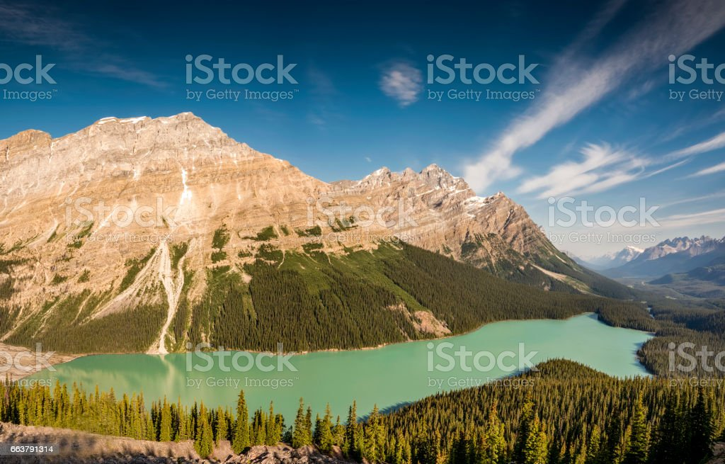 Peyto Lake Summer stock photo