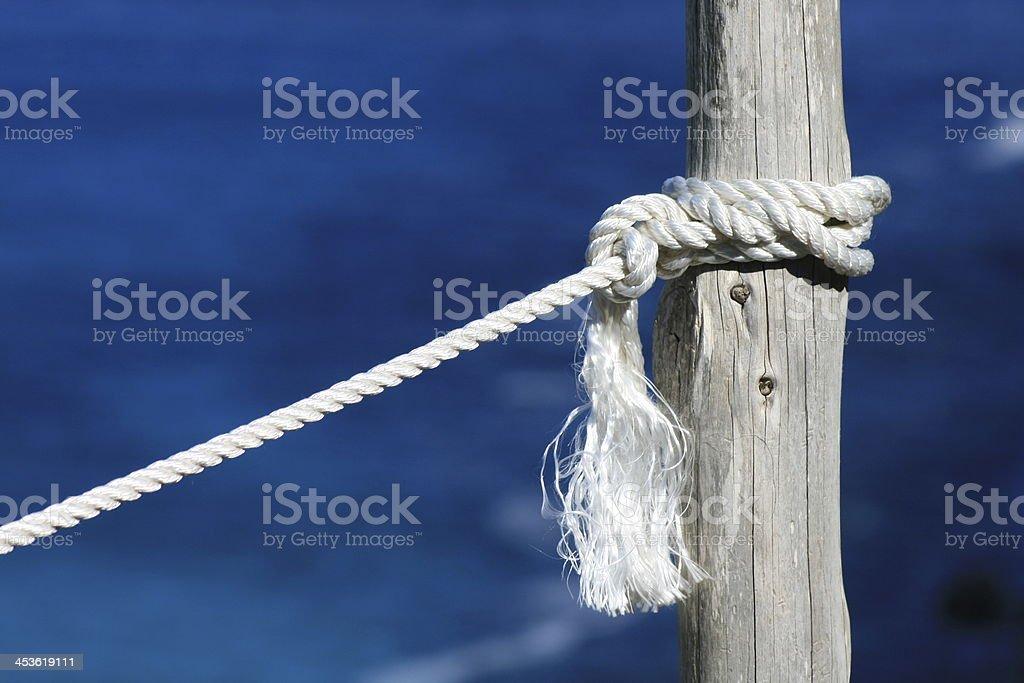 Pfahl auf Formentera stock photo