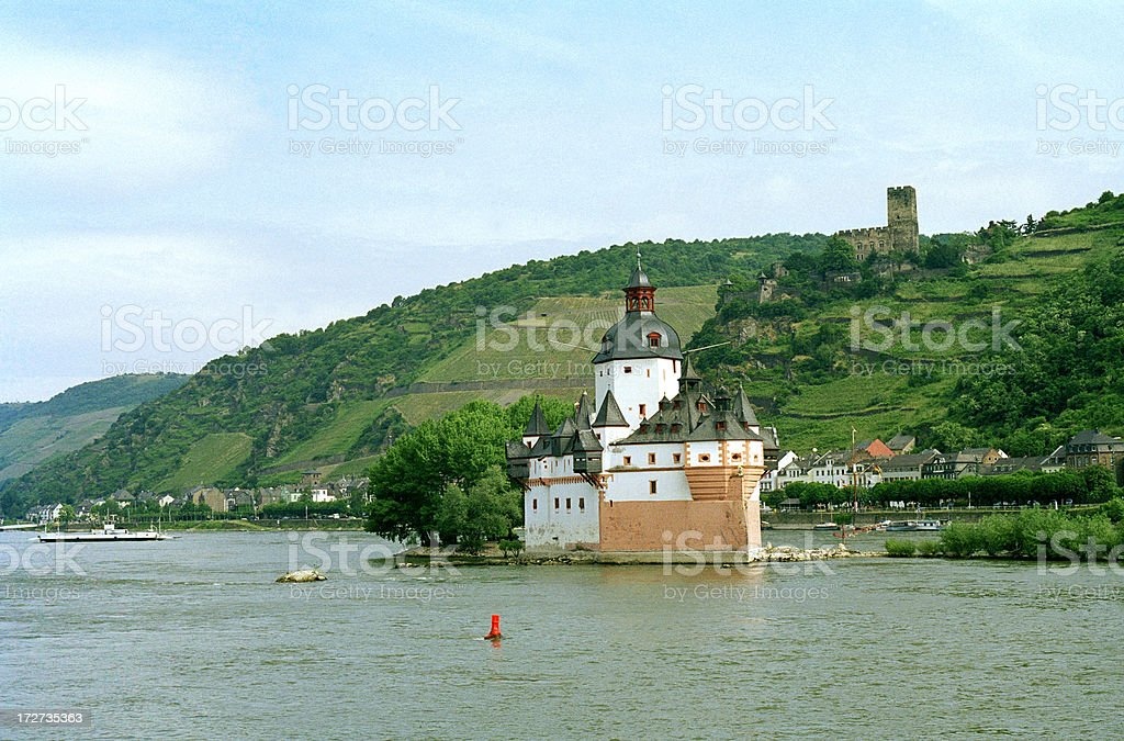 Pfalz Castle, Rhine River royalty-free stock photo