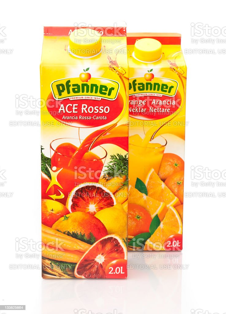 Pfanner Fruit Juice stock photo