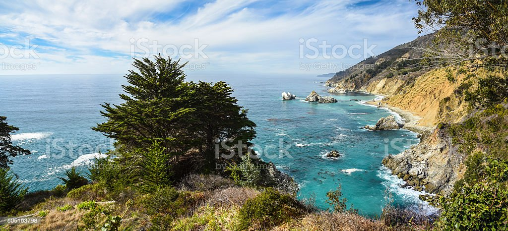 Pfeiffer Big Sur coast stock photo