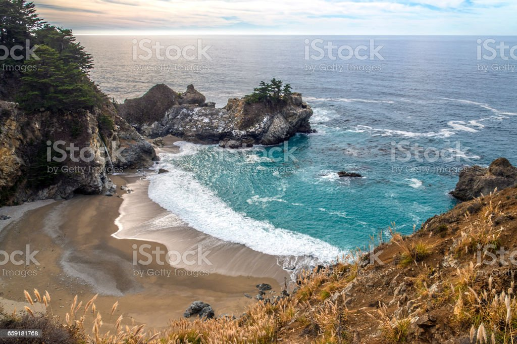 Pfeiffer Big Sur State Park stock photo
