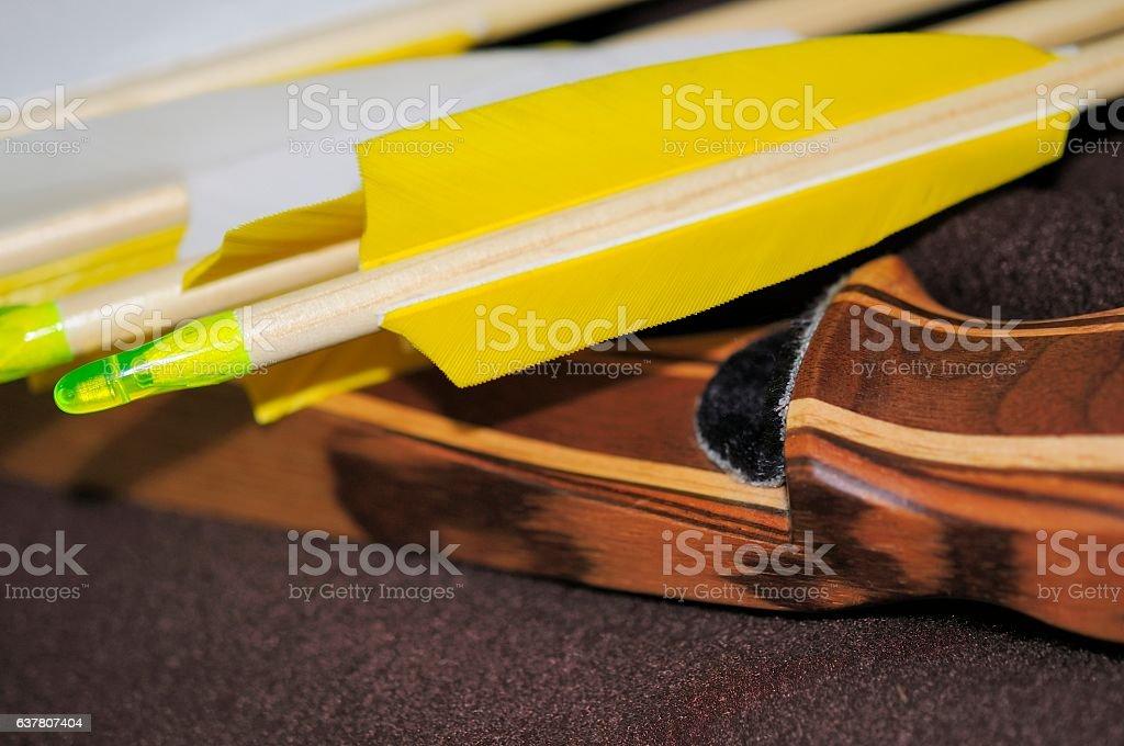 Pfeil und Bogen stock photo