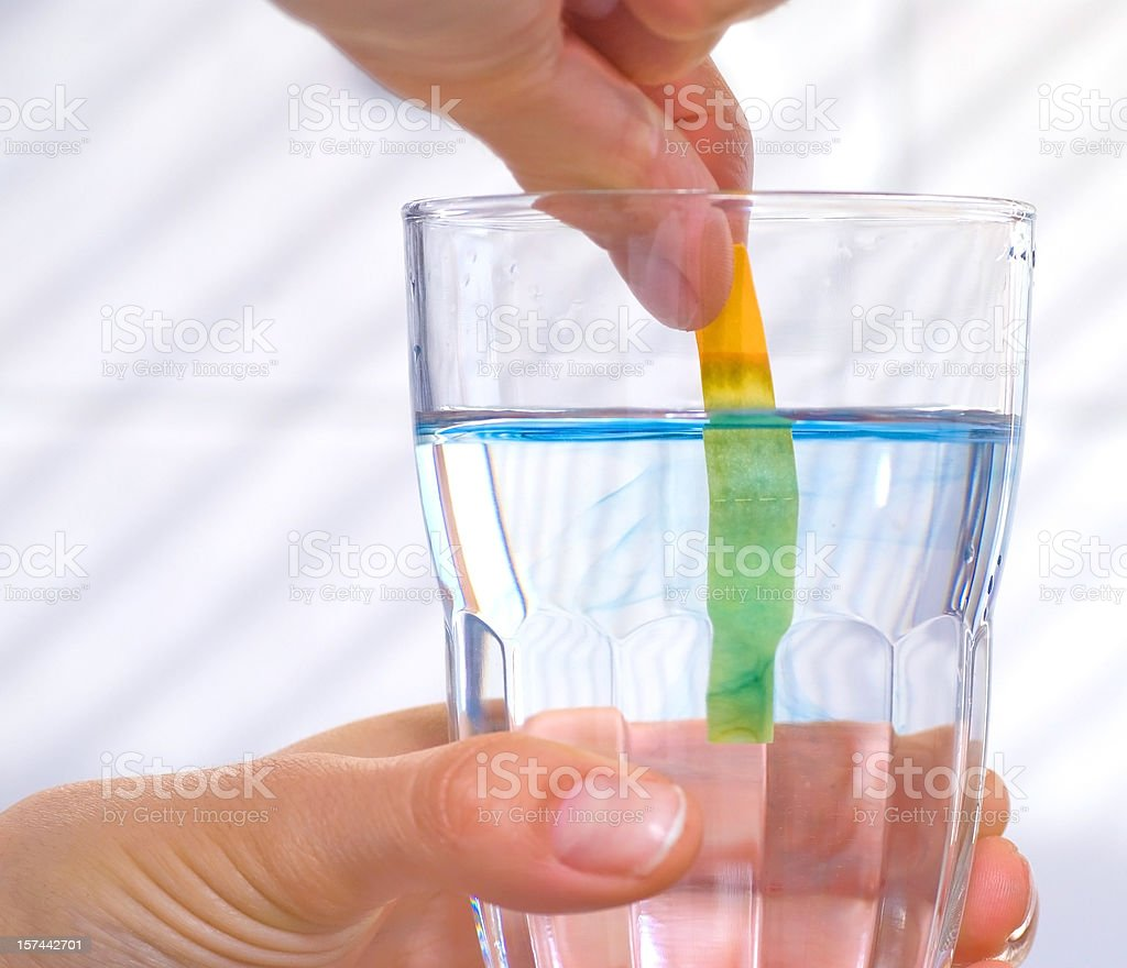 ph water measurement stock photo