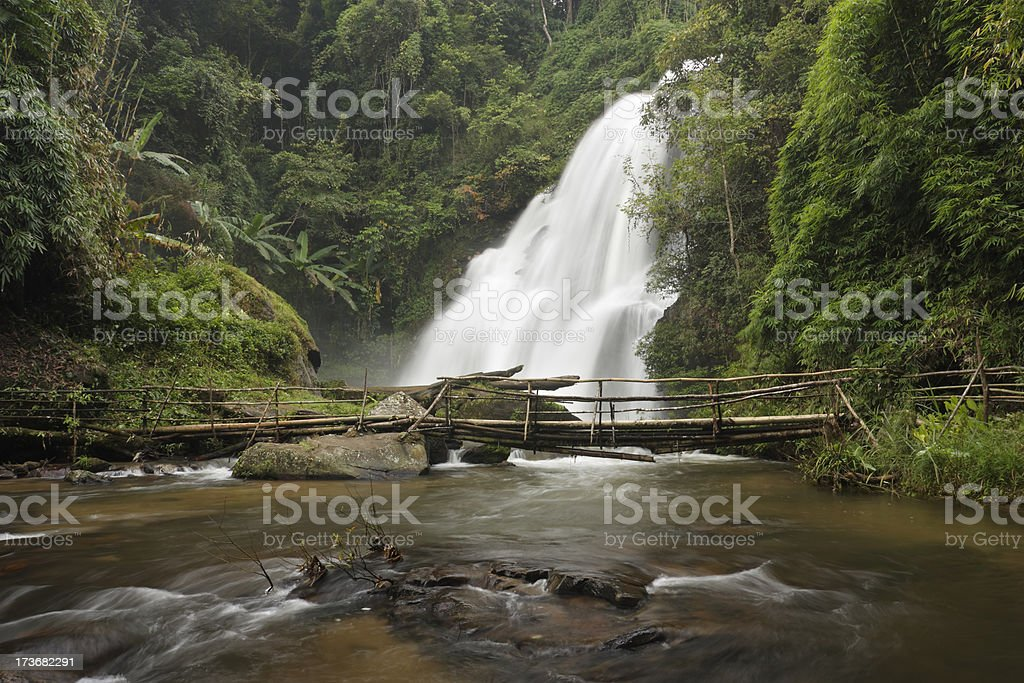 Pha Dok Sieo waterfall stock photo