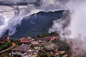 Pha Hi village, Mae Sai, Chiang Rai, Thailand.