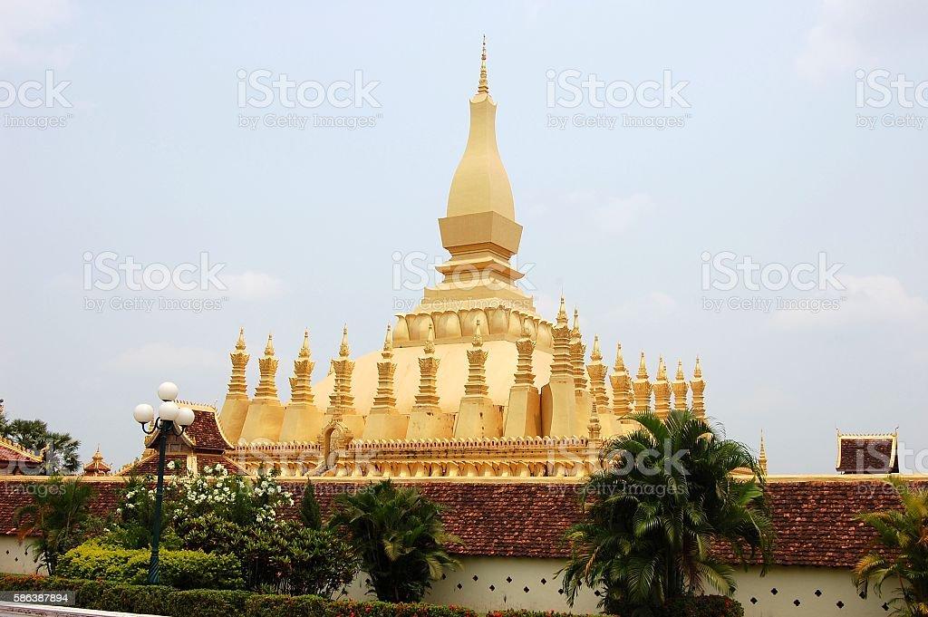 Pha that Luang golden stupa, Vientiane, Laos stock photo