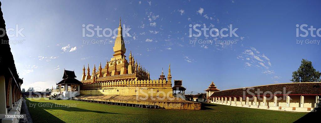 Pha That luang in Vientiane, Laos stock photo