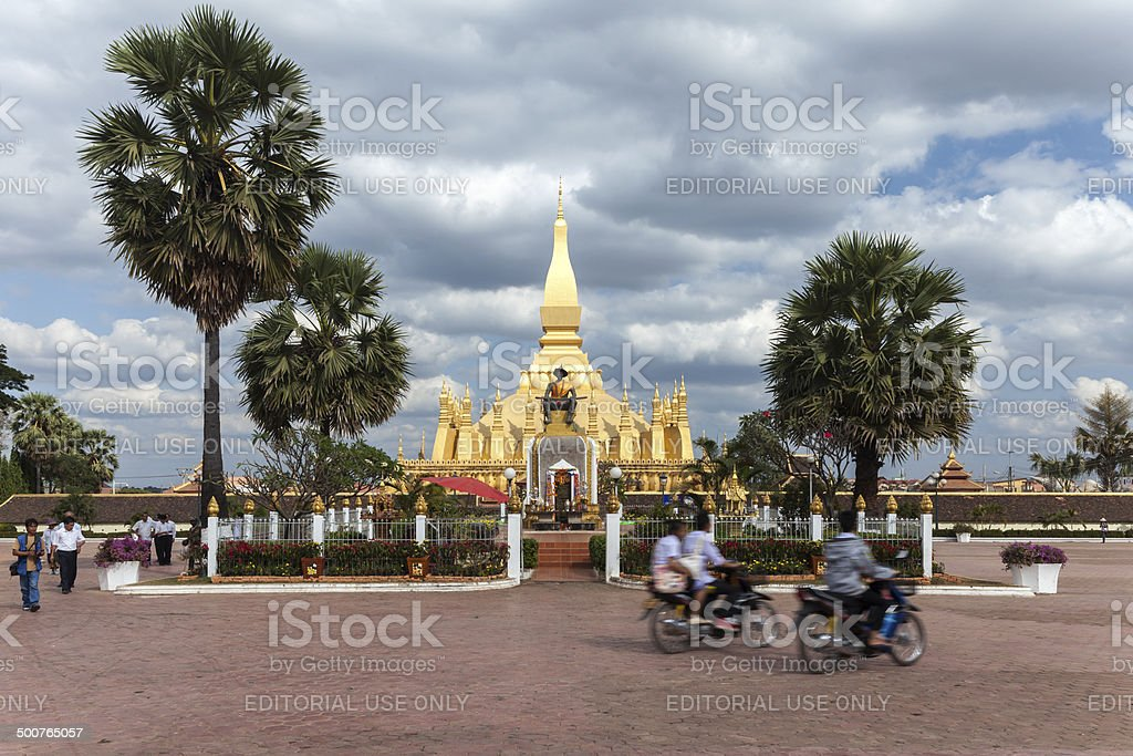 Pha That Luang in Vientiane royalty-free stock photo