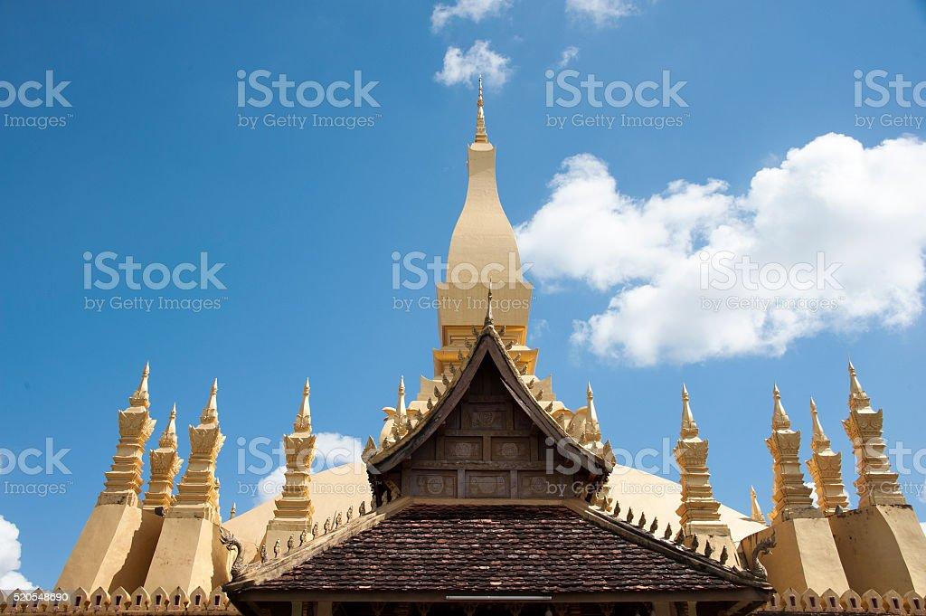 Pha That Luang stock photo
