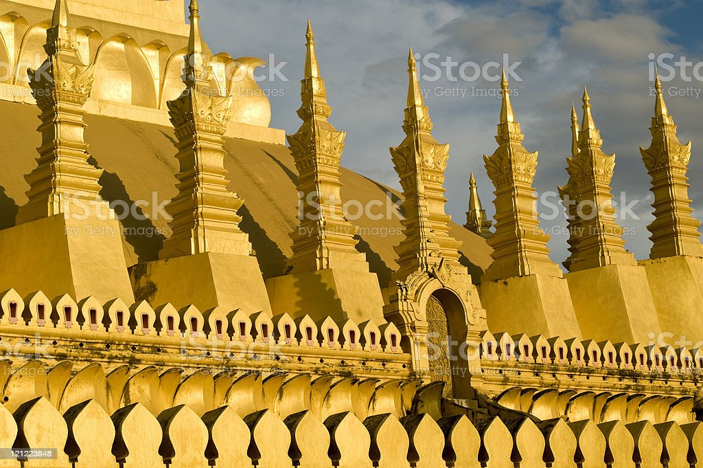 "Pha That Luang – the ""Golden Stupa"" in Laos royalty-free stock photo"