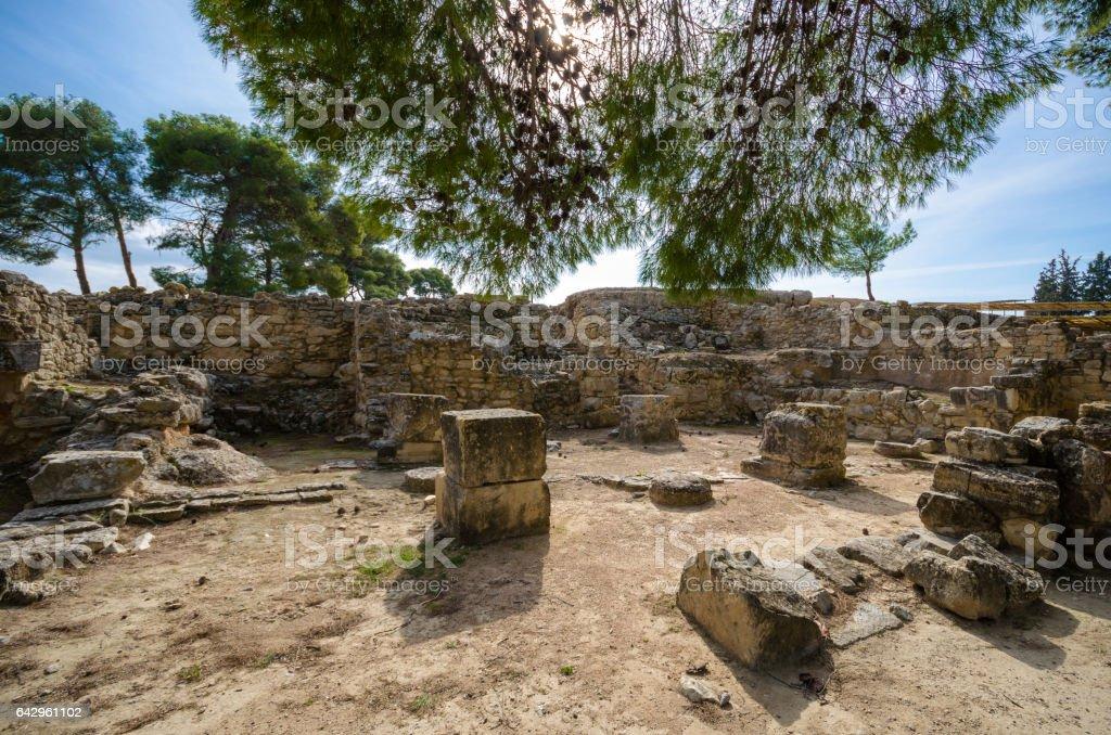 Phaistos ancient ruins, Greece stock photo