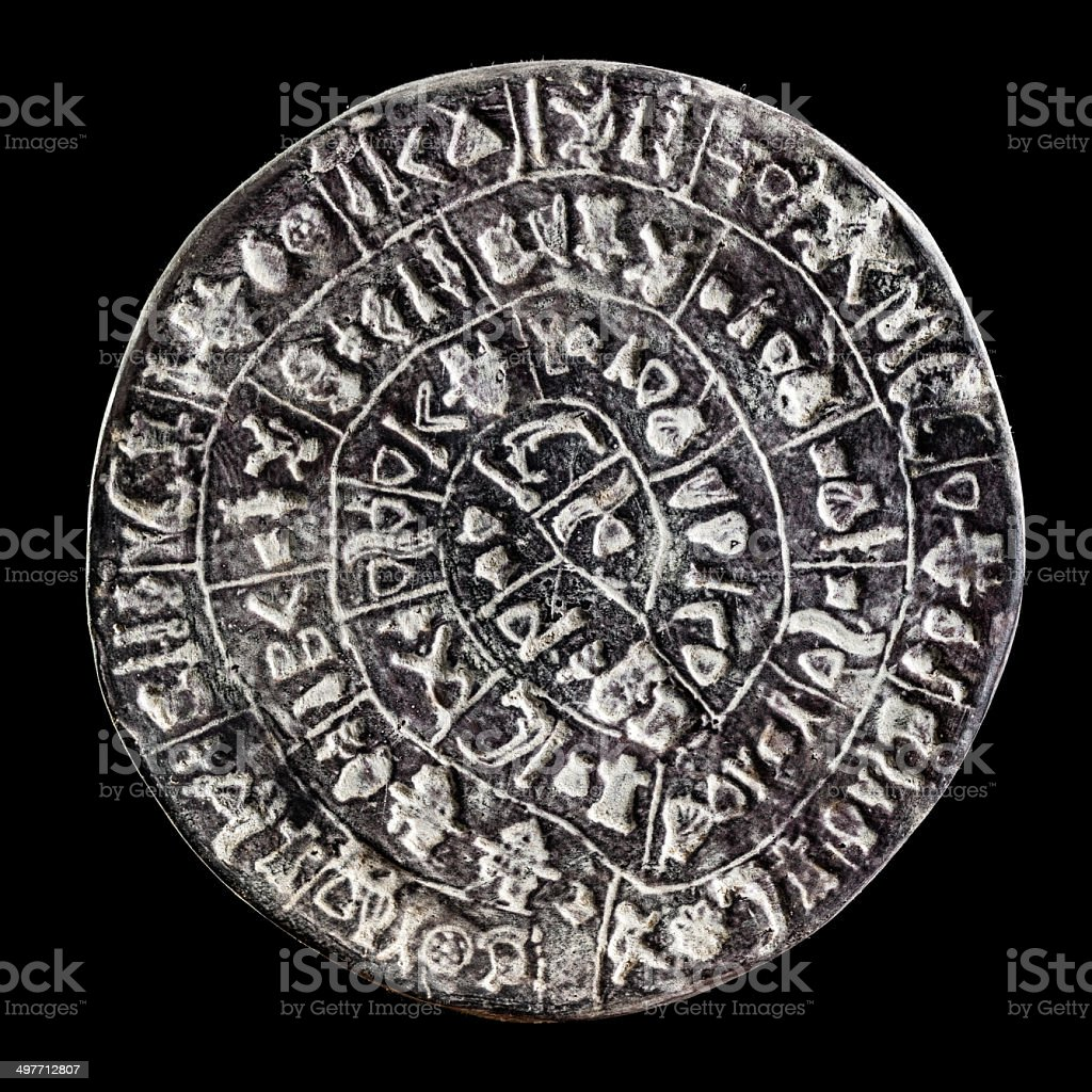 Phaistos Disc stock photo