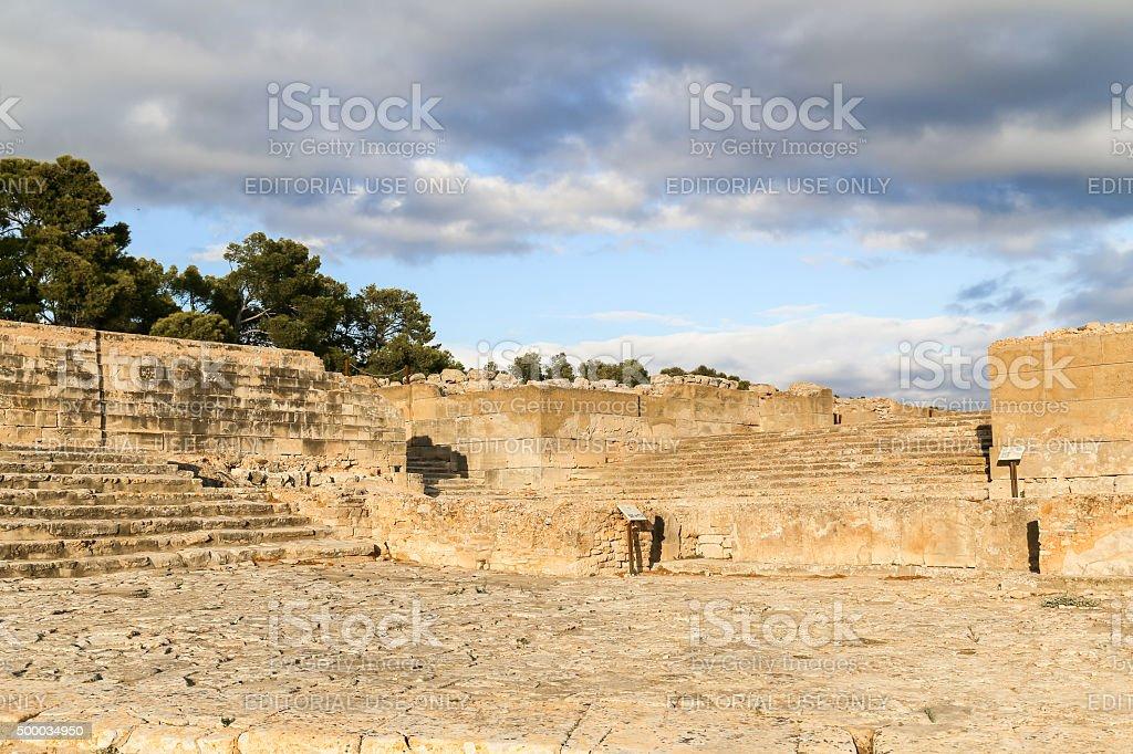 Phaistos Palace stock photo
