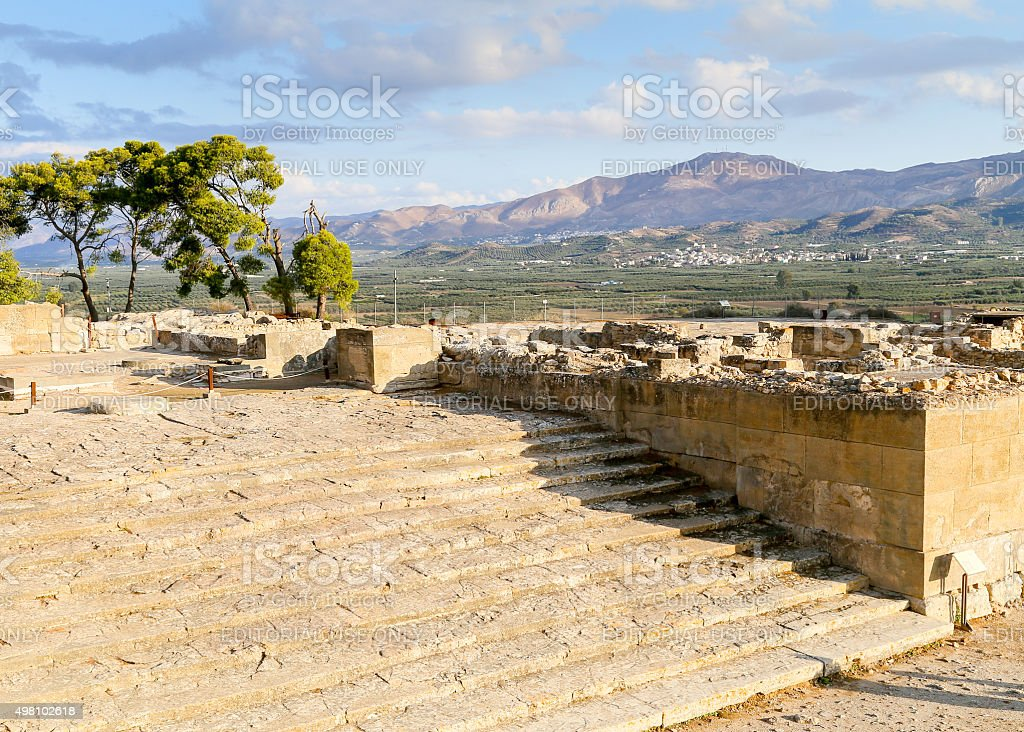 Phaistos stairway stock photo