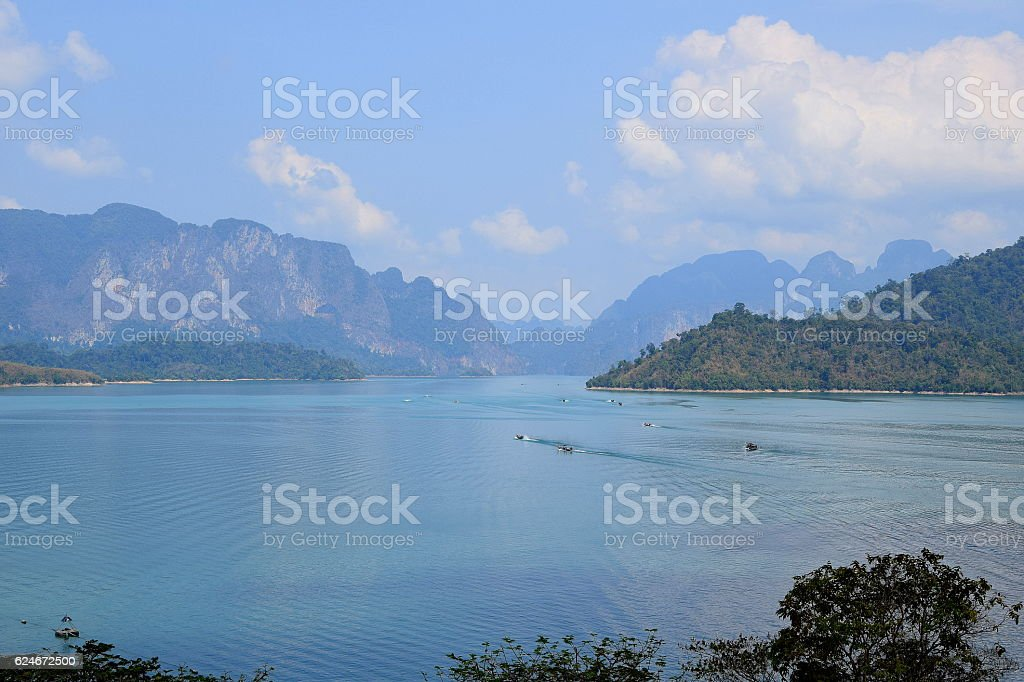 Phang Gna Tour in Lake stock photo