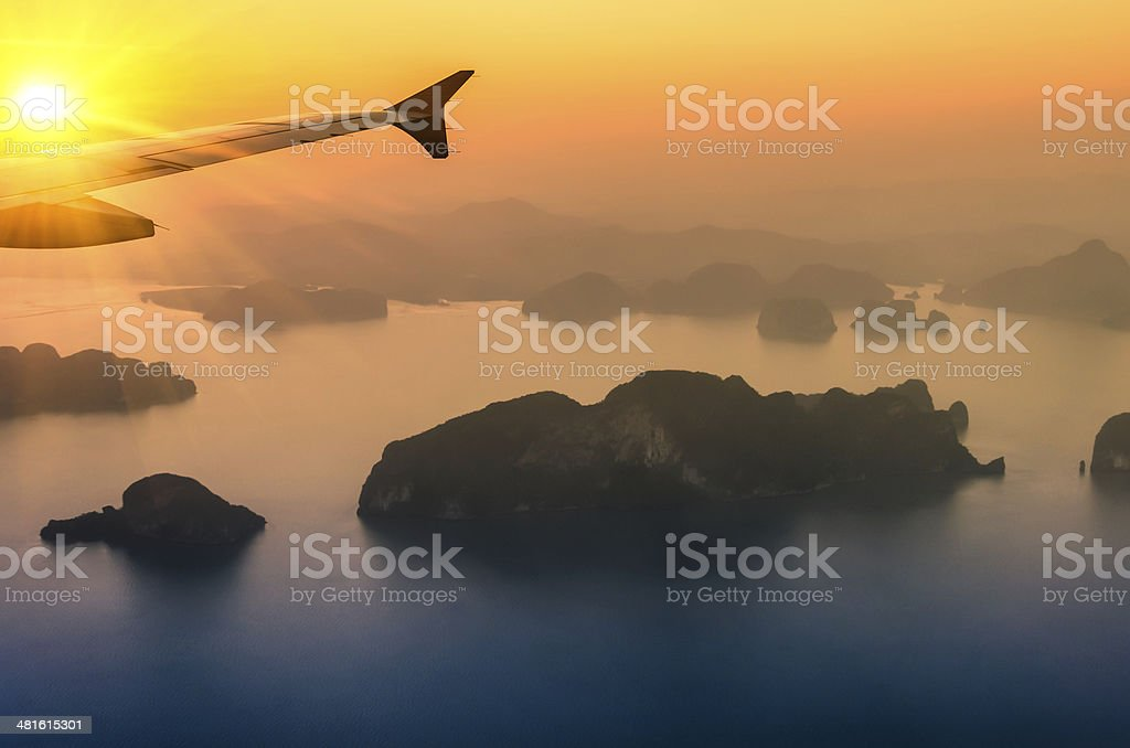Phang Nga Bay at Sunset - Thailand Nature Wonders stock photo