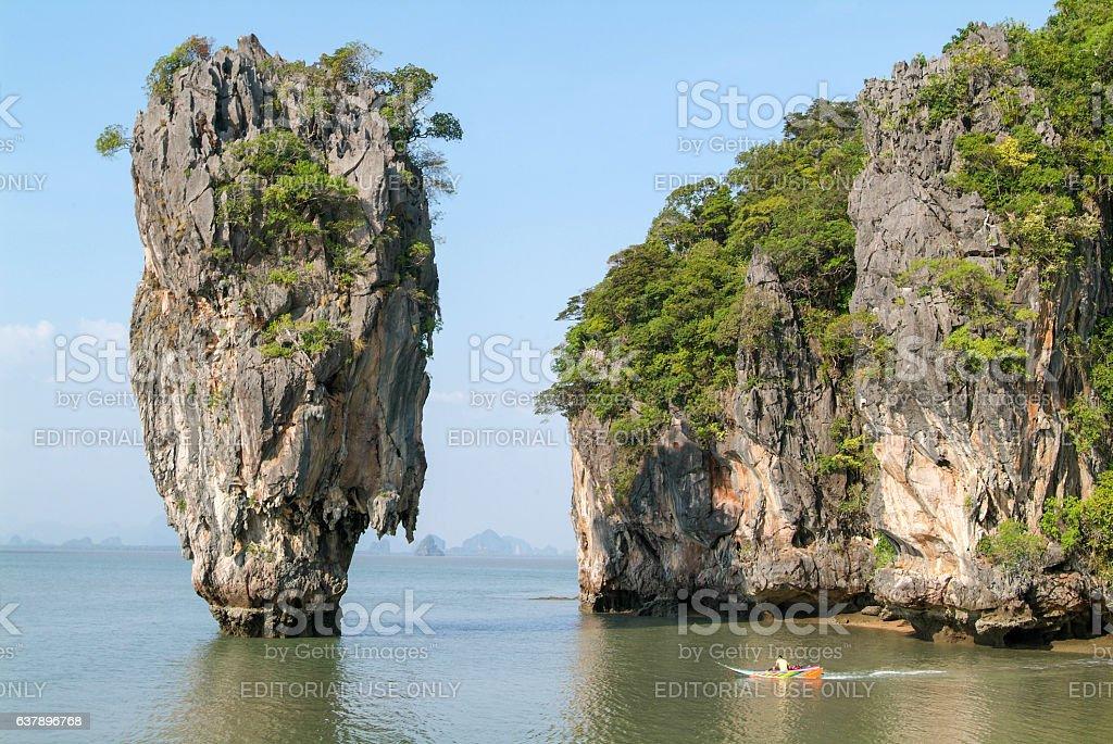 Phang Nga Bay, James Bond Island in Thailand stock photo