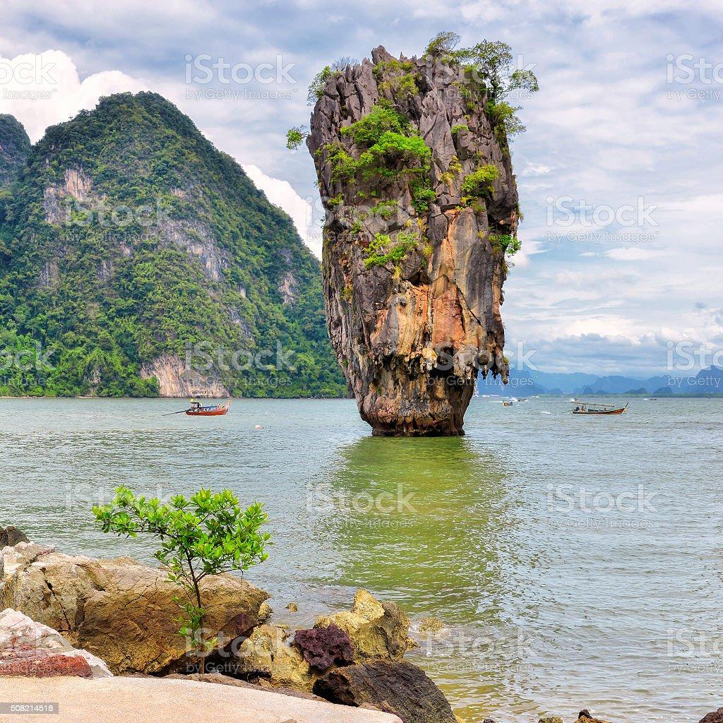 Phang Nga Bay, James Bond Island, Thailand stock photo
