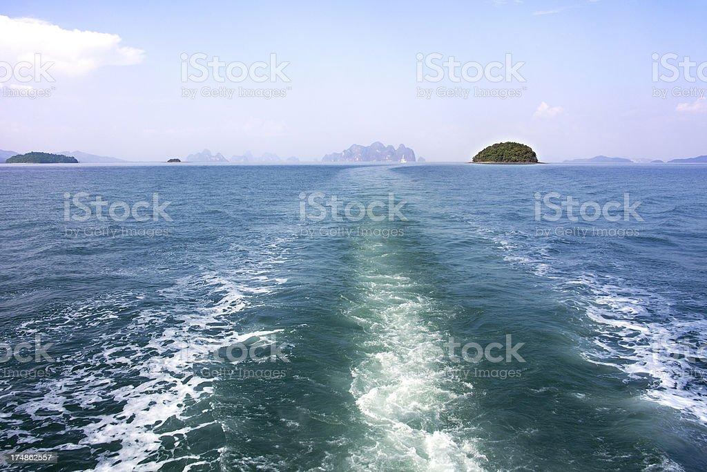 Phang Nga Bay scenery in Thailand royalty-free stock photo