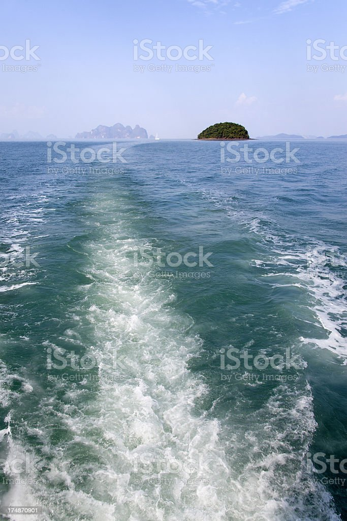 Phang Nga Bay scenery in Thailand royalty-free stock photo