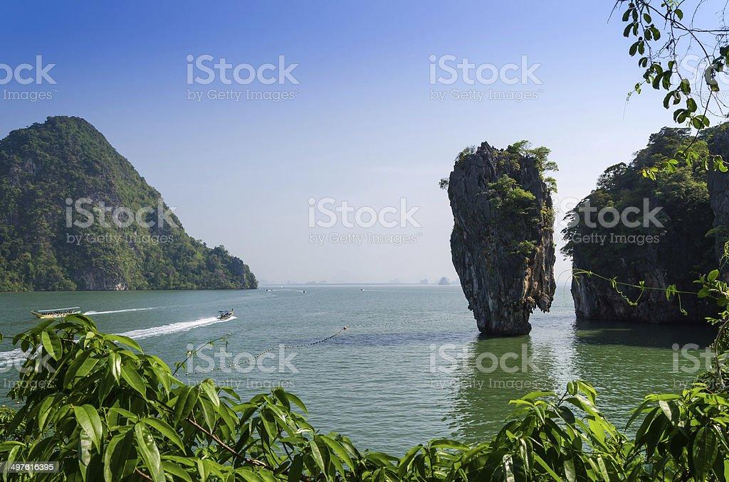Phang Nga Bay, Tapu Island in Thailand royalty-free stock photo