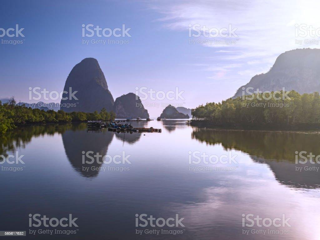 Phang Nga Bay, Thailand stock photo