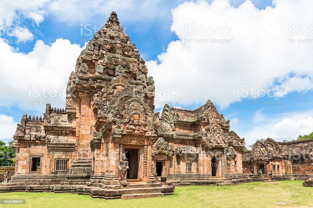 Phanom Rung Historical Park in Buriram province,Thailand. stock photo