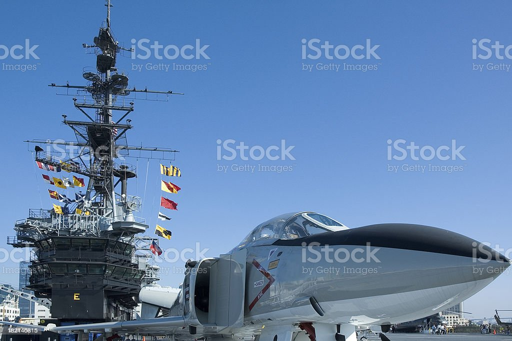 F-4S Phantom II US Navy Aircraft aboard the USS Midway stock photo
