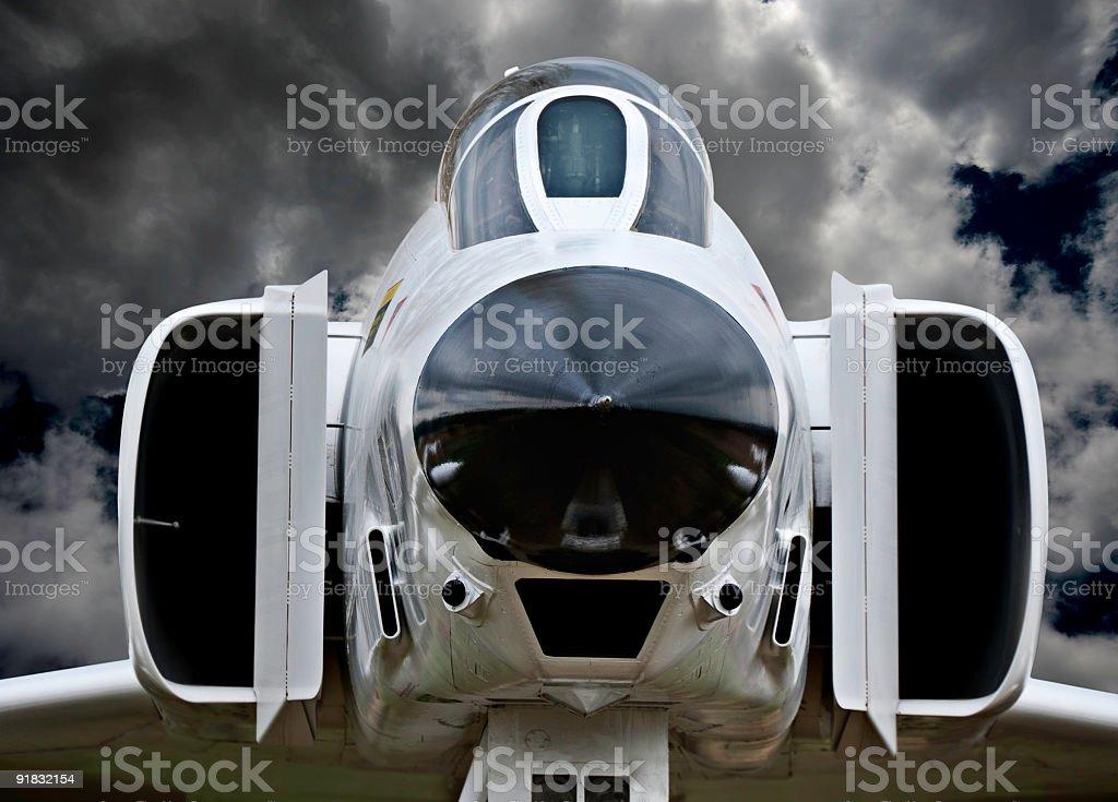 F4 Phantom military jet royalty-free stock photo