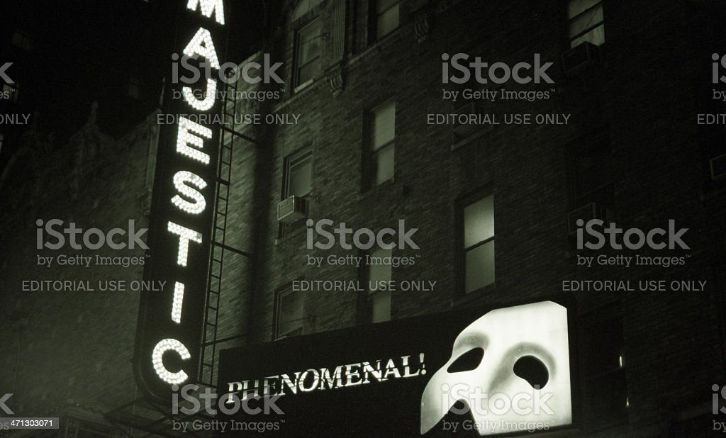 Phantom Of The Opera, New York City, USA stock photo