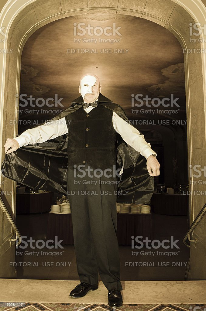 Phantom of the opera stock photo