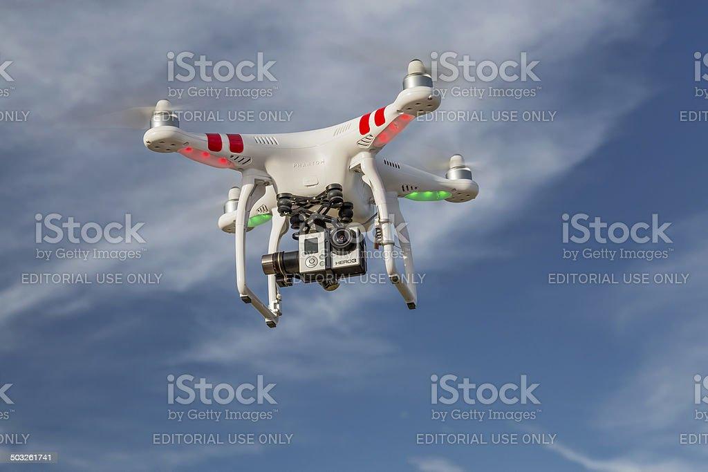 DJI Phantom quadcopter drone stock photo