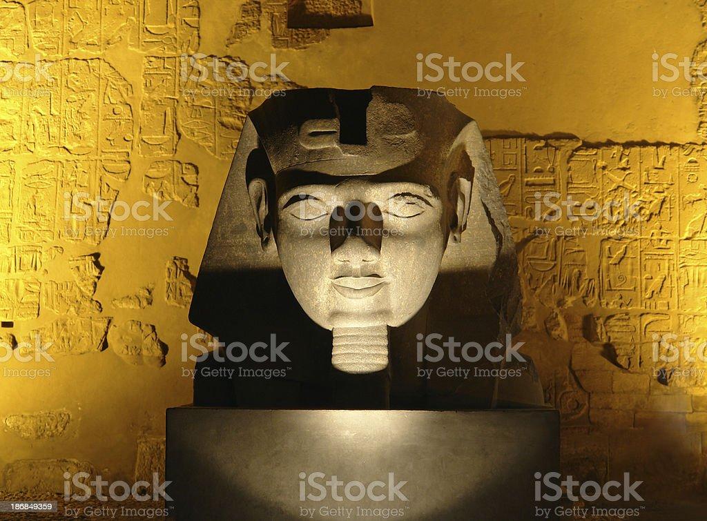 Pharaoh By Night royalty-free stock photo