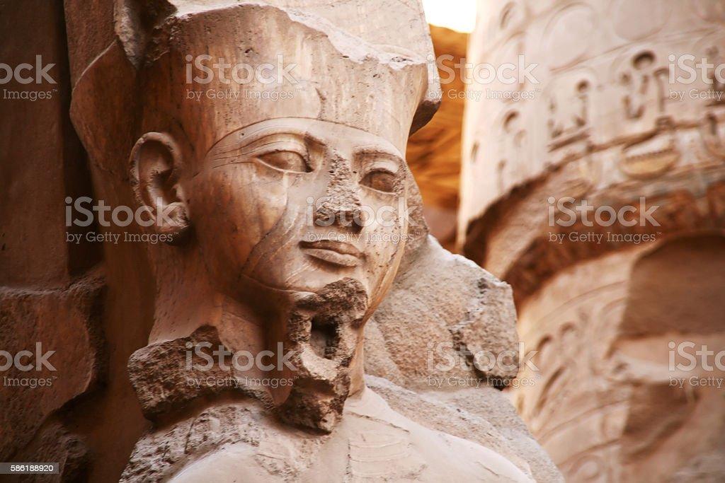 Pharaoh Ramses II, Luxor, Egypt stock photo