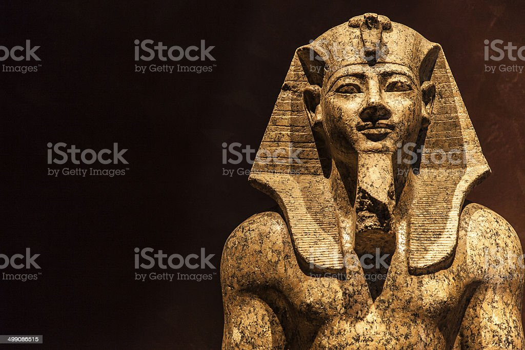 Pharaoh statue stock photo