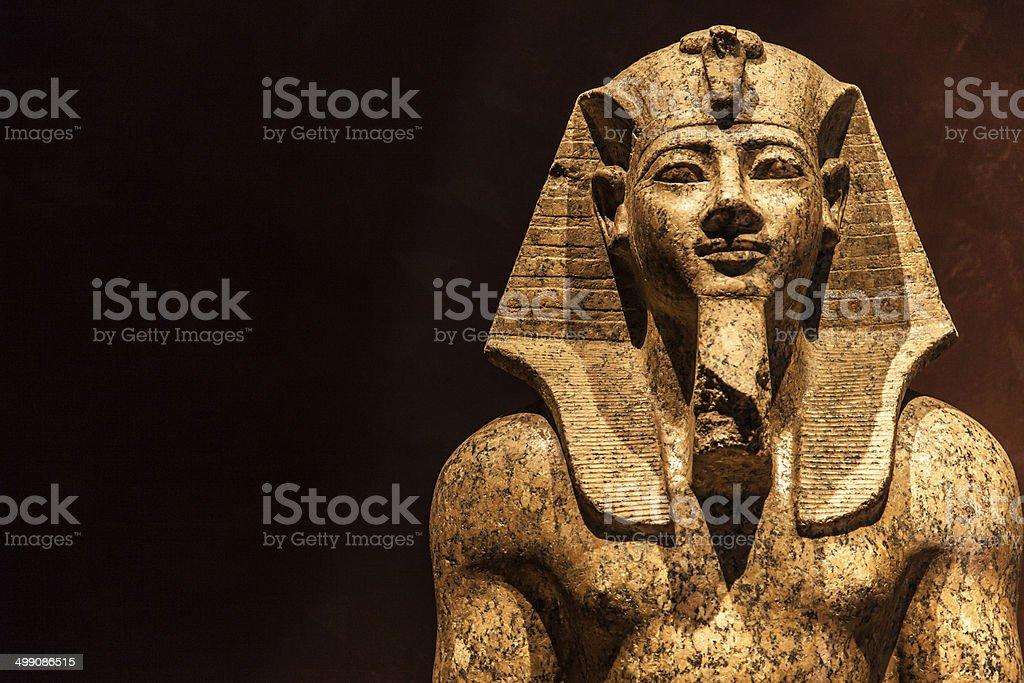 Pharaoh statue stock photo