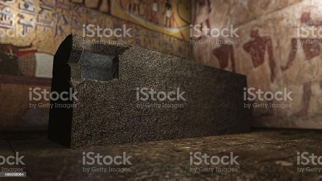 Pharaoh tomb in ancient Egypt stock photo