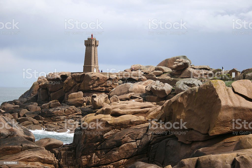 phare de Ploumanach royalty-free stock photo