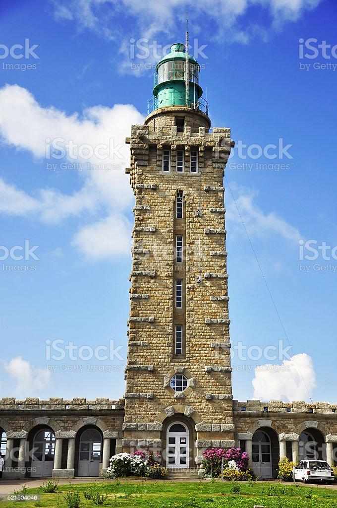 Phare du Cap Frehel lighthouse stock photo