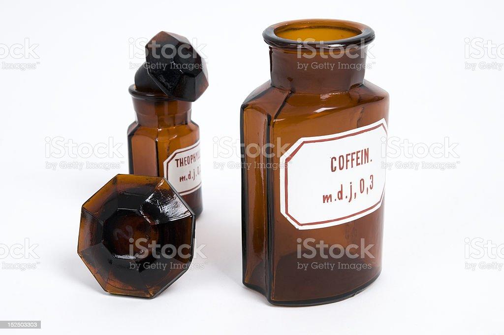 Pharmaceutical bottles royalty-free stock photo