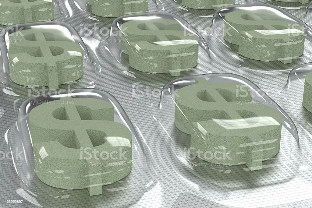 Pharmaceutical Business - Dollar Symbol stock photo