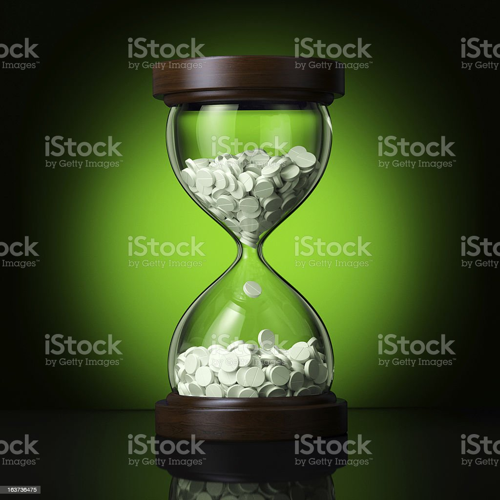 pharmaceutical business on green background royalty-free stock photo