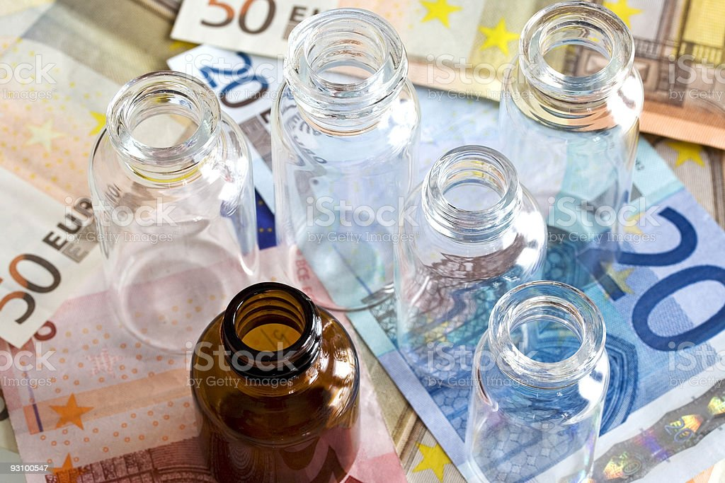 Pharmaceutical cost royalty-free stock photo